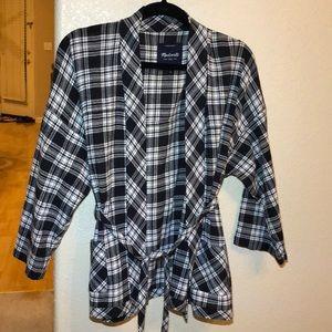 Madewell plaid kimono top